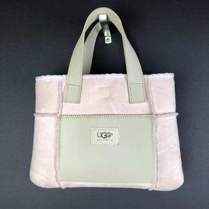 Ugg Australia Suede Accent Bag Purse Fur Lined